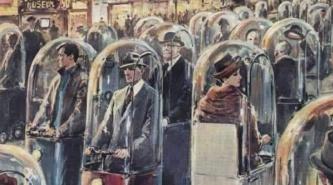 Una ilustración que describe como se imaginaban a la sociedad de 2022!